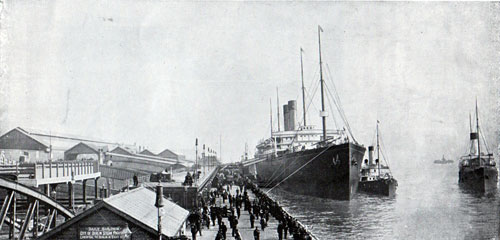 RMS Cedric, Twin-Screw, 21,000 Tons at Liverpool Landing Stage