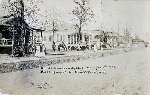 Nurses Quarters and Club House for Nurses at Camp Pike