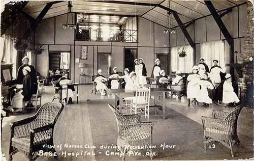 View of Nurses Club during Recreation Hour