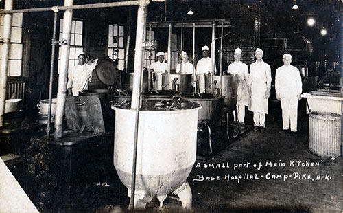 Part of the Main Kitchen at the Base Hopital, Camp Pike
