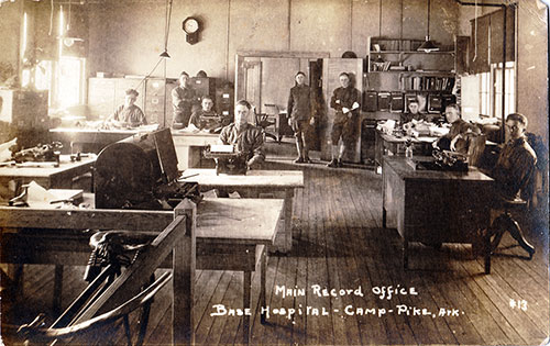 Main Record Office at the Base Hopital, Camp Pike