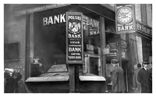 Polish Immigrant Bank in Boston circa 1910