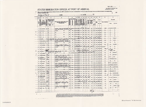 Second Part of Passenger Manifest