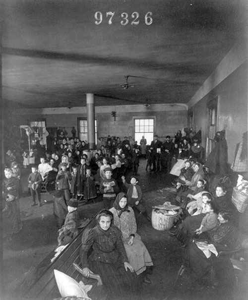 Recently Arrived Immigrants at Ellis Island