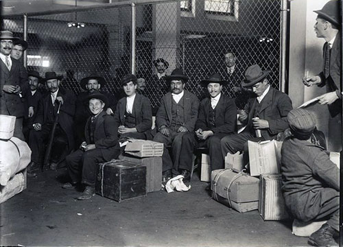 Group of Immigrants at Ellis Island