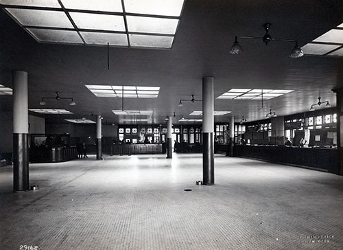 Large Hall at Money Exchange and Railway Ticket Windows