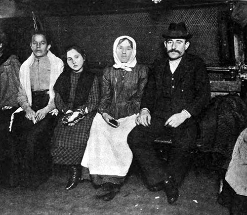 Detained Hungarian Immigrants at Ellis Island