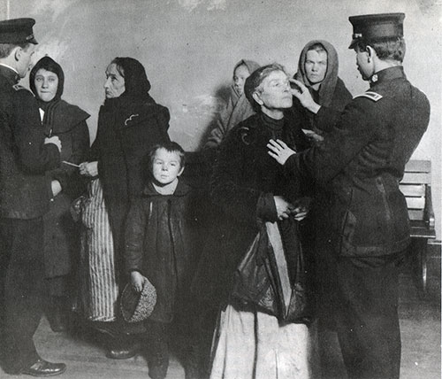 Women Immigrants are Examined by the Doctors at Ellis Island