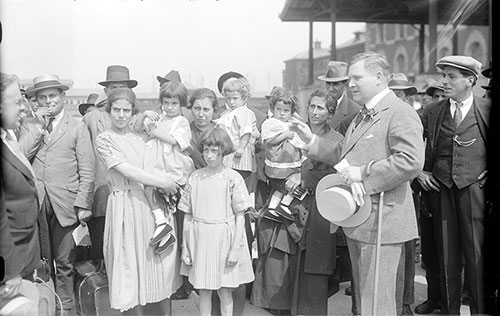 Frederick A. Wallis, Commissioner of Immigration Addresses Immigrants at Ellis Island 1921
