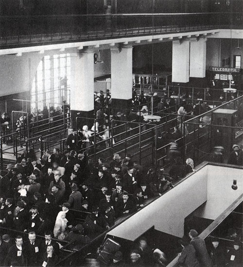 Registry Hall, Ellis Island 1904