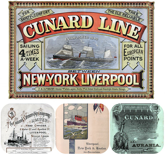 Passenger Lists of the Cunard Line