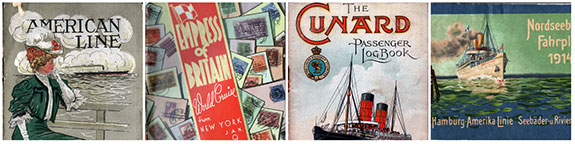 Steamship Lines Collage 1 - Transatlantic Ocean Liners and Other Worldwide Services