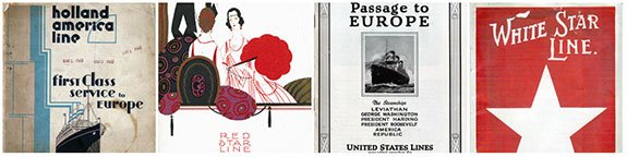 Steamship Lines Collage 2 - Transatlantic Ocean Liners and Other Worldwide Services