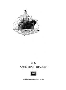 1929-05-26 Farewell Dinner Menu, S.S. American Shipper