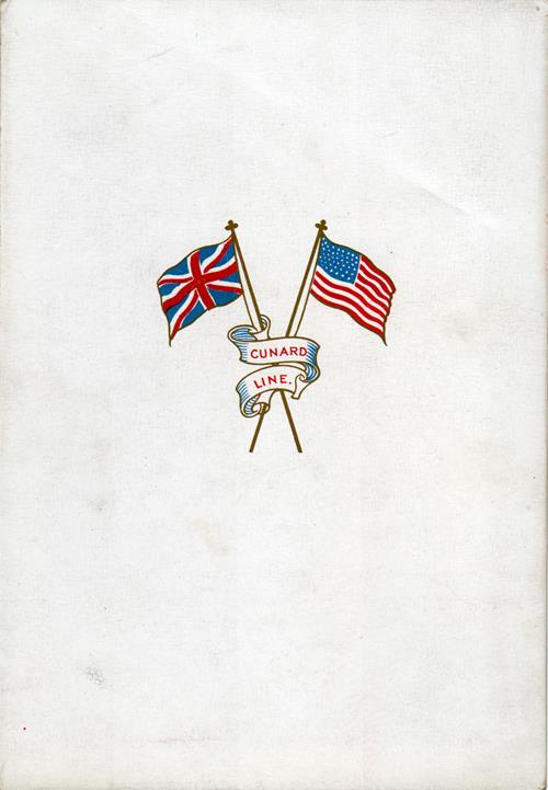 American Flags on Back Side of 1914 Laconia Dinner Menu