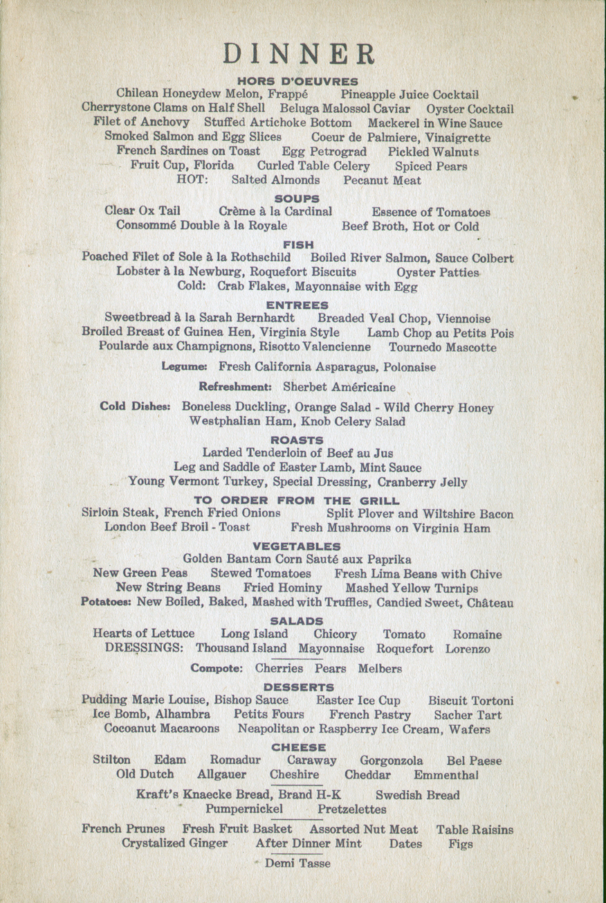 Images of Easter Dinner Buffet Menu - The Miracle of Easter