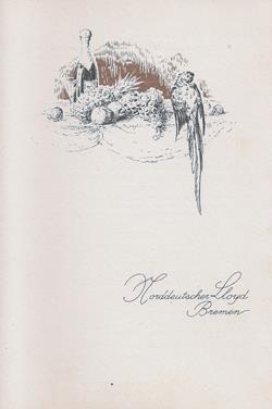 Front Cover, Luncheon Menu, January 1926, SS Berlin, North German Lloyd