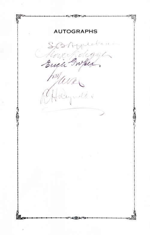 Autographs of the Guests