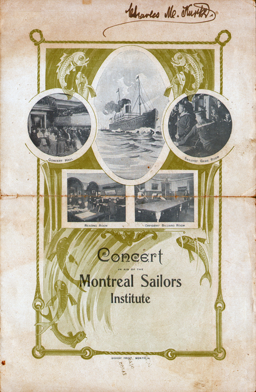 Concert Music Program Cover from the S.S. Hesperian of the Allan Line (1908)