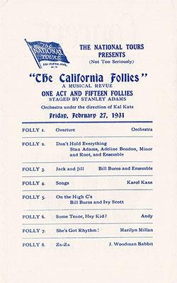 The California Follies