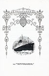 Grand Concert Program, S.S. Minnekahda, Atlantic Transport Line, 29 July 1928