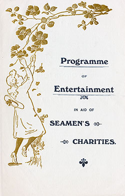 Benefit Program of Entertainment on the RMS Campania, Cunard Line, 3 July 1911