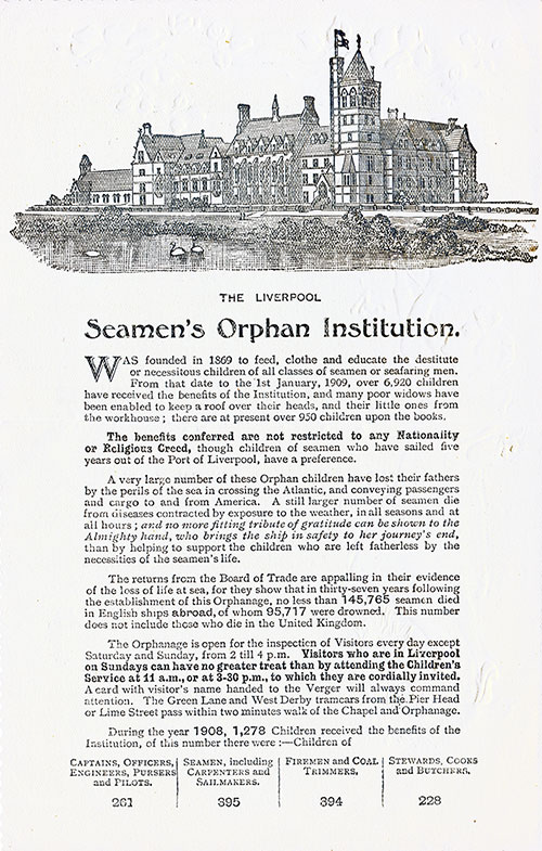 The Liverpool Seamen's Orphan Institution