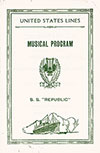Benefit Music Program, S.S. Republic, United States Lines, 3 October 1926