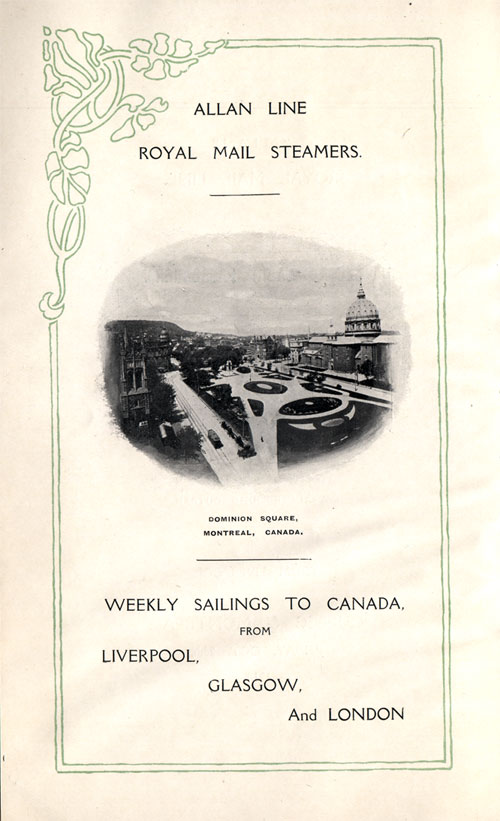 Weekly Sailings To Canada