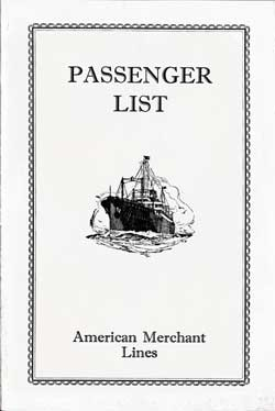 1929-05-17 Passenger Manifest for the S.S. American Shipper