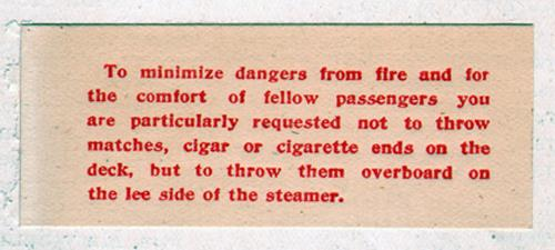 Special Note: Fire Dangers