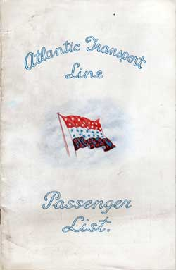 1930-07-12 Passenger Manifest for the S.S. Minnekahda