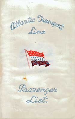 1931-04-25 Passenger Manifest for the S.S. Minnewaska