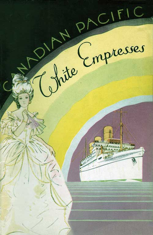 Front Cover - 24 August 1937 Passenger List, SS Empress of Australia, Canadian Pacific (CPOS)