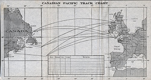 Track Chart - Canadian Pacific