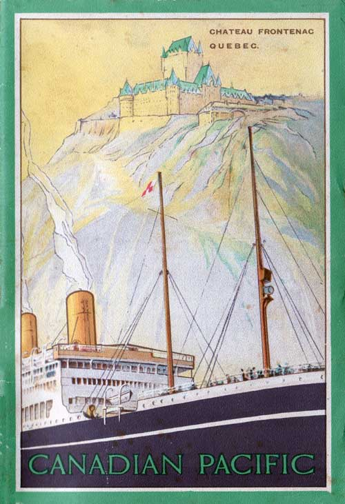 Front Cover - 14 August 1924 Passenger List, SS Empress of Scotland, Canadian Pacific (CPOS)