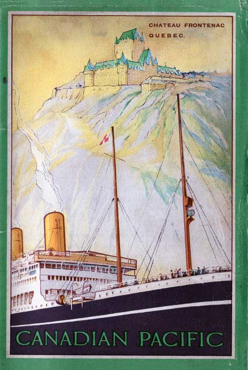 Front Cover - 11 September 1925 Passenger List, S.S. Marburn, Canadian Pacific (CPOS)