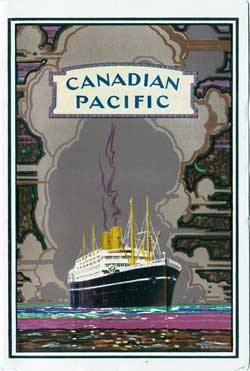 Front Cover - 4 May 1928 Passenger List, S.S. Minnedosa, Canadian Pacific (CPOS)