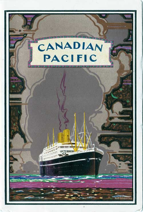 Front Cover - 4 May 1928 Passenger List, SS Minnedosa, Canadian Pacific (CPOS)