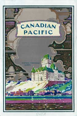 Back Cover - 4 May 1928 Passenger List, S.S. Minnedosa, Canadian Pacific (CPOS)