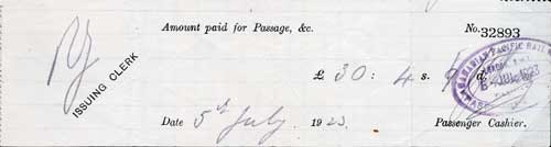 Receipt for Passage