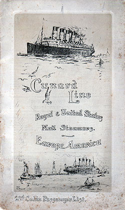 1910-07-16 Ships List for the R.M.S. Campania