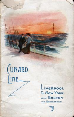 Passenger Manifest, RMS Campania, Cunard Line, September 1910, Liverpool to New York