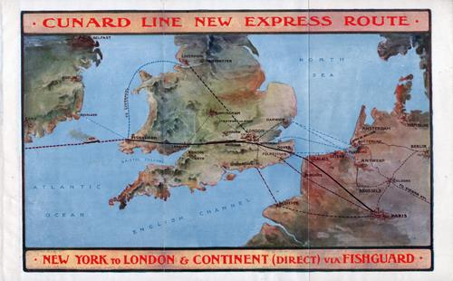 Cunard's New Express Route via Fishguard