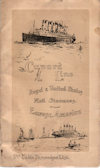 Passenger Manifest, Cunard Line Ivernia 1910 Liverpool To Boston
