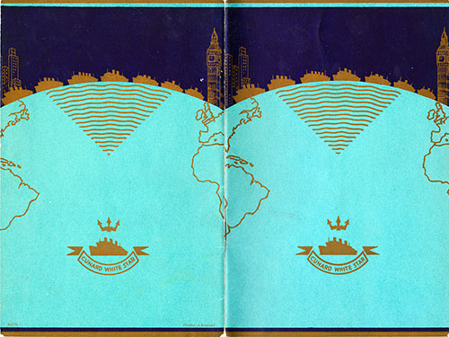 Cover of the Passenger List, Cunard Line R.M.S. Queen Elizabeth, 24 May 1947