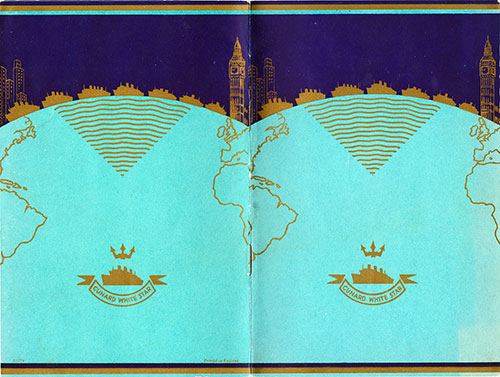 Cover of Passenger List, Cunard Line RMS Queen Mary, 19 September 1947