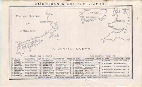 American And British Lights (Lighthouses) 1907