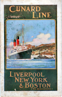 Passenger List, Cunard Line Saxonia 1909 Liverpool To Boston