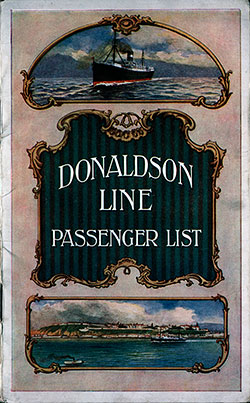 1914-08-29 Passenger Manifest for the TSS Cassandra